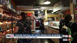 Edison Festival of Light draws crowds to downtown businesses [Video]