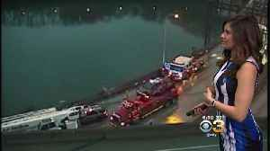 Tractor-Trailer Accident Snarling Traffic On I-676 WB [Video]