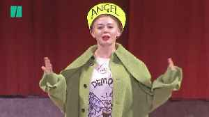 Rose McGowan Walks Vivienne Westwood's Politically-Charged Runway [Video]