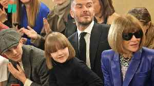 Harper Beckham Is Anna Wintour's Mini Me At London Fashion Week [Video]