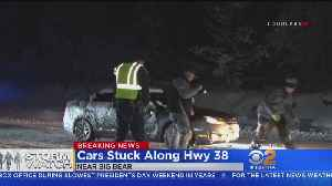 Snowstorm Leaves Drivers Trapped Near Big Bear [Video]