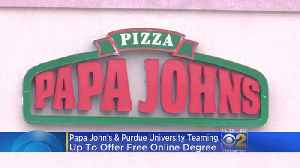Purdue, Papa John's Offer Free Tuition To Pizza Chain Employees [Video]