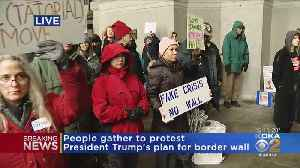 Protesters Rally Against Border Wall On City-County Building Steps [Video]