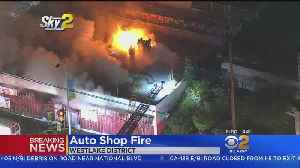 Fire Sparks At Westlake Auto Shop [Video]