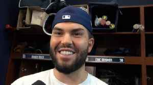 Padres 1B Eric Hosmer on reporting to camp and the possibility of Harper and Machado [Video]