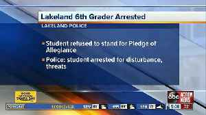 Student arrested for disrupting class 'was NOT arrested for refusing to participate in the pledge' [Video]