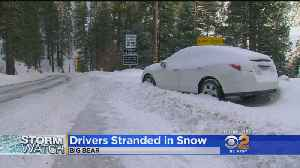 Snow Leaves Hundreds Of Cars Stuck On Highway 38 Near Big Bear [Video]