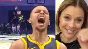 WATCH Steph Curry's Hot Mom Knocks Down INSANE Underhanded Half-Court Shot! [Video]