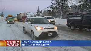 Chain Controls Lifted On I-80, But Expect A Lot Of Traffic [Video]