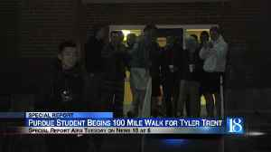 Purdue student begins 100 mile walk for Tyler Trent [Video]