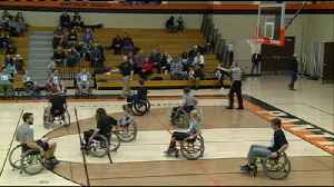 Wheelchair basketball game benefits organization for people with disabilities [Video]