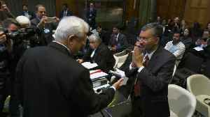 Indian diplomats refuse to shake hands with Pakistani counterparts at ICJ [Video]