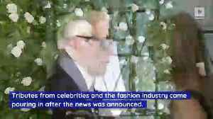The Fashion World Pays Tribute to Karl Lagerfeld [Video]