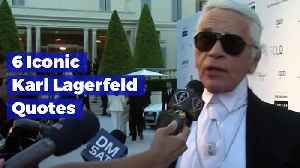 6 Iconic Karl Lagerfeld Quotes [Video]