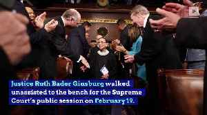 Ruth Bader Ginsburg Is Back in the Supreme Court After Battling Health Issues [Video]