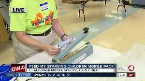 Feed My Starving Children holds mobile meal pack at Challenger Middle School [Video]