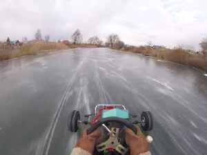 Go-Karting on a Frozen River [Video]