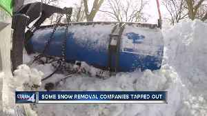 Snow removal companies tapped out [Video]