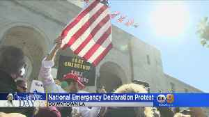 National Emergency Declaration Protest In Downtown LA [Video]