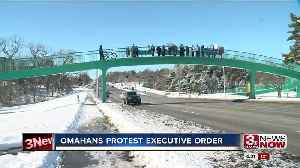 Omahans protest executive order [Video]