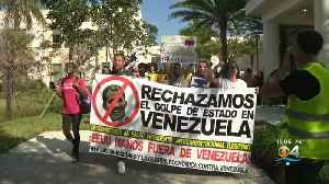 South Floridians Protest President Trump's Involvement In Venezuelan Crisis [Video]