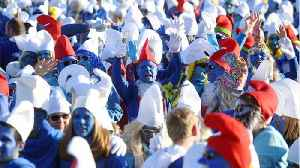German Town Breaks Record for Largest Smurf Gathering [Video]