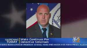Wake Continues For Det. Brian Simonsen [Video]