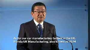 Honda confirms decision to close its only British car plant [Video]