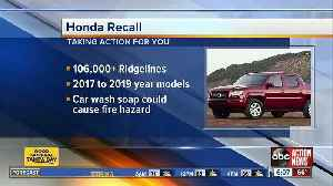 Honda recalling more than 106K trucks at risk of catching fire after car wash [Video]