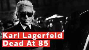 News video: Fashion Designer, Karl Lagerfeld Dead