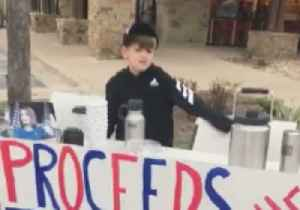 Texas Boy Sells Hot Chocolate to Raise Money for Trump's Border Wall [Video]