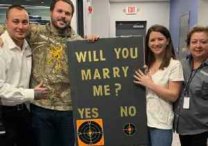 Man's Proposal Is Right on Target at New Jersey Shooting Range [Video]