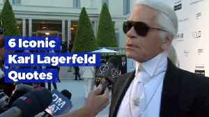 News video: Great Karl Lagerfeld Quotes