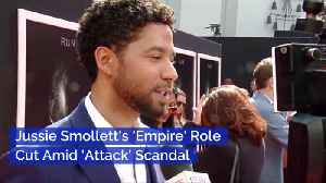 News video: Jussie Smollett's Role On Empire Is Quickly Being Cut