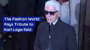 The Fashion World Is Stunned By The Loss Of Karl Lagerfeld [Video]