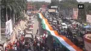 Tiranga Yatra with 800m national flag taken out in Bihar for CRPF martyrs [Video]