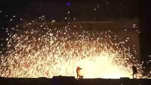 Sparks fly for Lunar New Year in ancient light show [Video]