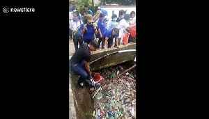 River of trash shows the insane scale of Indonesia's plastic pollution problem [Video]