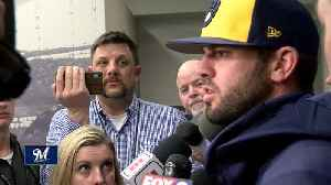 Brewers resign Mike Moustakas for 2019 season [Video]
