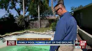Tampa family's pool pops out of the ground after hiring unlicensed pool contractor [Video]