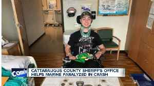WNY sheriff's office helping a Marine partially paralyzed in car crash [Video]