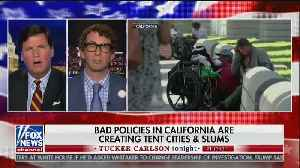 Tucker Carlson argues with liberal radio show host about California homelessness [Video]