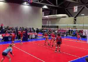 Volleyball Player Makes Flying Leap Into Crowd in Bid for Victory at Kansas Tournament [Video]