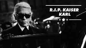 Fashion Kaiser Karl Lagerfeld dies at 85 [Video]