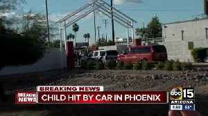 Child in critical condition after being hit by family vehicle in Phoenix [Video]
