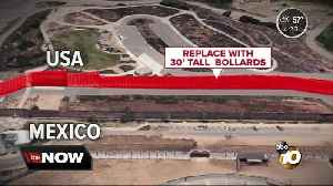 Secondary border wall construction starts [Video]
