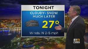 Bob Turk Has An Updated Look At Your Tuesday Night Forecast [Video]
