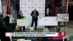 Donations made to National Museum of African American Music [Video]