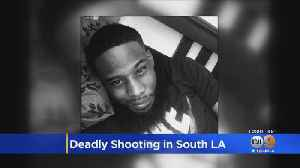 South LA Man Shot And Killed In Possible Gang Initiation [Video]
