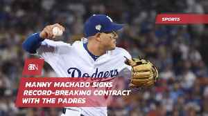 Manny Machado Gets Thrown A Record Breaking Contract [Video]